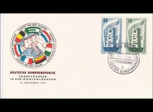 FDC Europamarken 1956