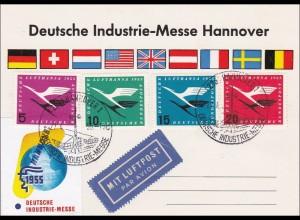 Deutsche Industrie Messe Hannover 1955 auf Sonderkarte