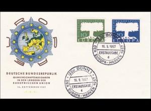 Europa Marken 1957 - Erstausgabe