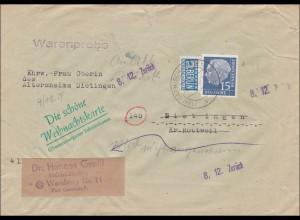 Warenprobe Dietingen nach Wamberg 1954