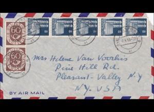 Luftpostbrief von Stuttgart nach USA 1953