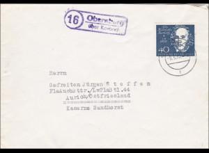 Brief von Obernburg über Korbach 1960 nach Aurich