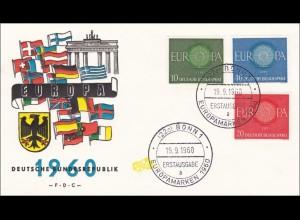 Europamarken 1960 - Erstausgabe