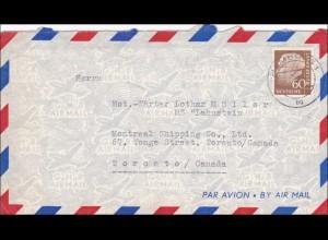 Luftpostbrief von Hamburg nach Canada
