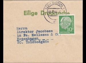 Eilige Drucksache 1954 von Bonn nach Kopenhagen