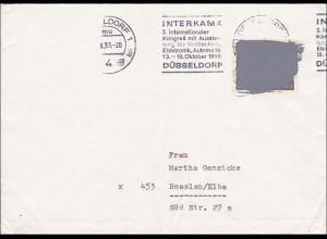 Postkrieg von 1965 - Düsseldorf nach Rosslau