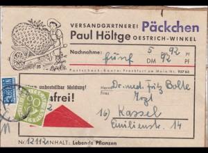 Päckchen von Oestrich Winkel nach Kassel als Nachnahme