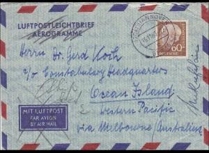 Luftpostbrief von Hannover 1960 nach Australien