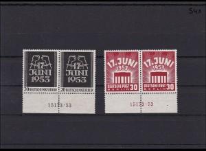 Berlin MiNr. 110-111, ** postfrisch, Unterrandpaare mit HAN