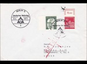 Brief von Berlin - Deutscher Betontag in die UDSSR zurück