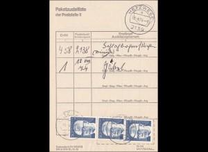 Paketzustellliste von Hetzwege 1974