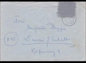 Postkrieg: Vertriebenenmarke 1965 nach Dessau