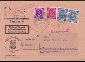 Amtsgericht Gerolzhofen nach Untersteinbach 1954