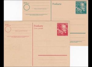 Ganzsache: Postkarte PSo1 und PSo2