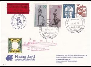 Ganzsache: Brief Deutsche Schiffspost 1975 Hapag-Lloyd