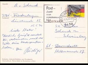 Ganzsache: Ganzsache 1975 von Hessisch Lichtenau nach Darmstadt