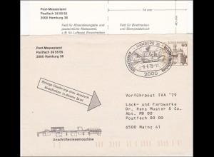 Postmessestand 1979 Hamburg, Anschriftenlesemaschine nach Mainz, Inhalt