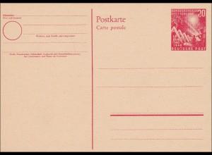 Ganzsache PS02, ungebraucht 1. Bundestag 1949