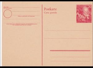 Ganzsache: PS02, ungebraucht 1949