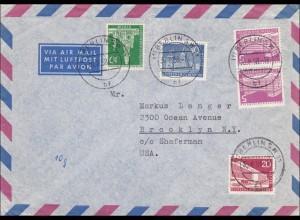 Luftpost Brief nach USA 1958