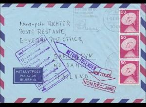 Lufptost nach Thailand - zurück - MeF 1985