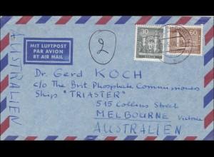 Lufptost Brief nach Australien 1960