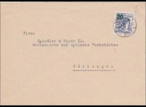 Brief nach Göttingen