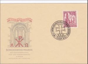 Brief 1953 als FDC Kaiser-Wilhelm Gedächtniskirche