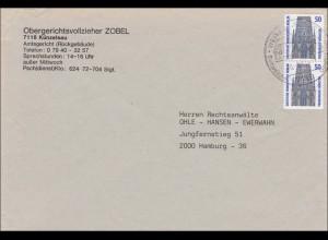 Brief Obergerichtsvollzieher Künzelsau mit Sonderstempel