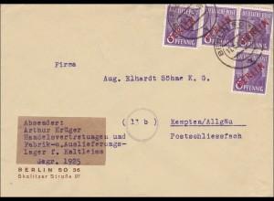 Brief von 1949 nach Kempten