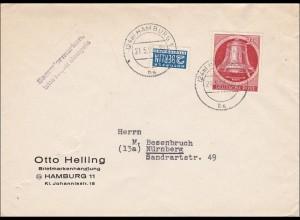 Brief 1952 nach Nürnberg