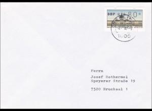 Brief Berlin 1987 nach Bruchsal - 80 Automatenmarke
