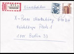 Einschreiben innerhalb von Berlin 1990