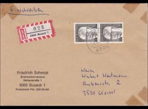 Einschreiben Buseck nach Kassel - 1973 - 2x 110Pfg