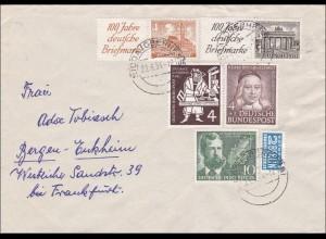 Brief von Nidda nach Bergen-Enkheim 1954