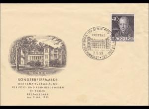 FDC Wilhelm von Humbolt 1953