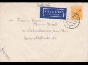 Luftpost 1949 nach Niedernhausen