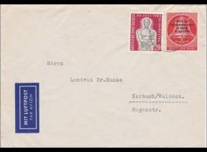Brief nach Korbach/Waldeck als Luftpost