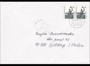 Brief von 1987 nach Polen - waagrechtes Paar