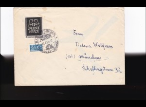 Brief 1954 nach München aus Bad Kissingen
