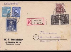 Einschreiben 1948 nach Charlottenburg