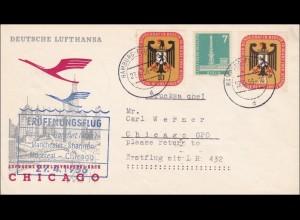 Erstflug Hamburg-Chicago mit Lufthansa 1956