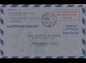 Luftpostbrief - Taxe Percue Deutsche Post Berlin 1950 nach USA