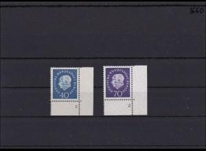 Berlin MiNr. 185-186, ** postfrisch, Eckrand mit Formnummer 2