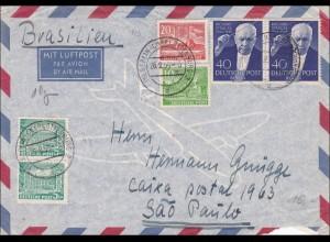 Luftpostbrief nach Brasilien 1955