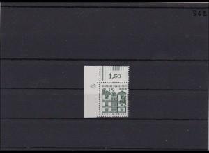 Berlin MiNr. 243, ** postfrisch, Eckrand mit Druckerkennzeichen DKZ 12