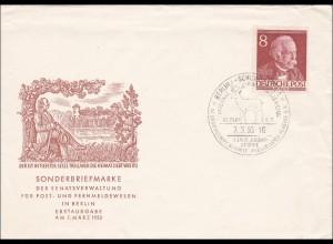 FDC 1953 Philatelisten Hirsch im Sonderstempel