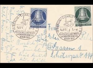 Ansichtskarte Gastwirt- und Konditorenmesse 1951 mit Sonderstempel