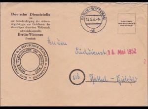 Benachrichtigung der Angehörigen von Gefallenen 1952, Bethel-Bielefeld