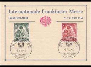 Frankfurter Messe 1952 mit Sonderstempel Tag der Briefmarke